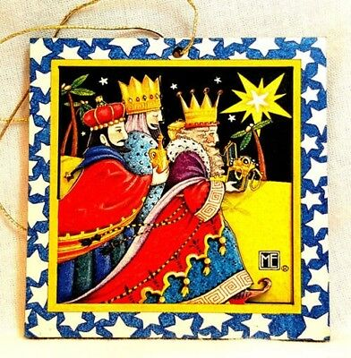 Mary Engelbreit Gift We Three Kings Christmas Ornament 3D Layered MINT