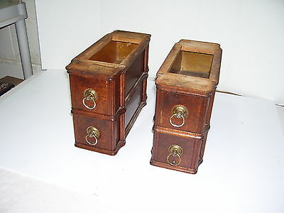 Antique White Treadle Sewing Machine Set of 4 Drawers & Frames BEAUTIFUL OAK