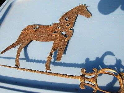 Antique Horse Weathervane-Rust,Bullet Holes, But Very Cool