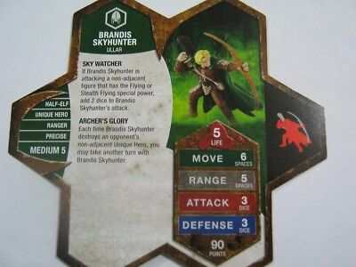 Brandis Skyhunter Champions of the Forgotten Realms Used  Various Heroscape Unit