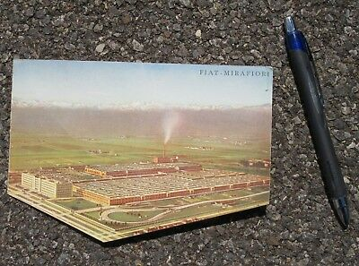 Panoramic View Of The Fiat Mirafiori Works In Turin Mechanical Advertising Piece