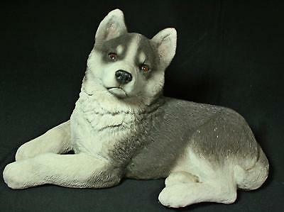 Vintage Sandi-Cast Large Siberian Husky Pup With Brown Eyes 1980s