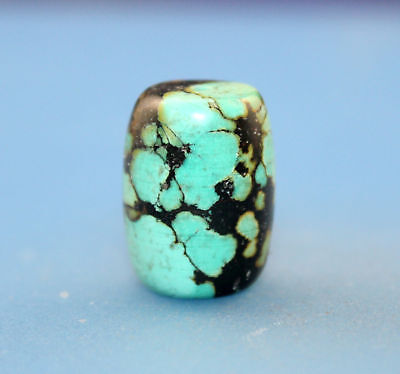 20*15 mm Antique Undressed Dzi turquoise old Bead from Tibet **Free shipping**