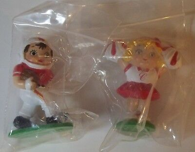 Original SEALED Lot of (2) 1985 CAMPBELL'S KIDS Football Player & Cheerleader