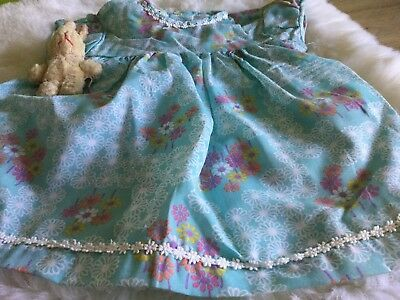 Authentic Vintage Baby infants Girls Childrens  Dress unused 70s 3 m