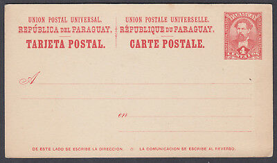 Paraguay 4c red Unused Stationery Postcard