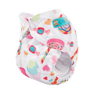 ALVA Baby Girl Cloth Diaper One Size Reusable Washable Pocket Nappy +1 Insert