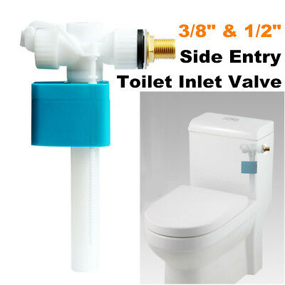 Toilet Cistern 3/8'' & 1/2'' Water Tank Side Bottom Entry Inlet Fill Float Valve