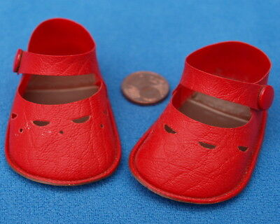 Stolle Puppenschuhe 4/40 Schuhe Puppe Rot Red Doll Shoes