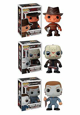 "Funko HORROR 3.75"" POP 3pc SET MICHAEL  MYERS - JASON VOORHEES  - FREDDY KRUEGER"