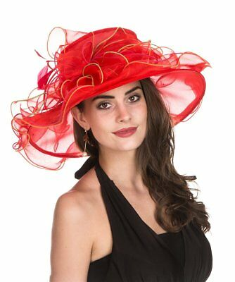 SAFERIN Women's Organza Church Kentucky Derby Fascinator Bridal Tea Party
