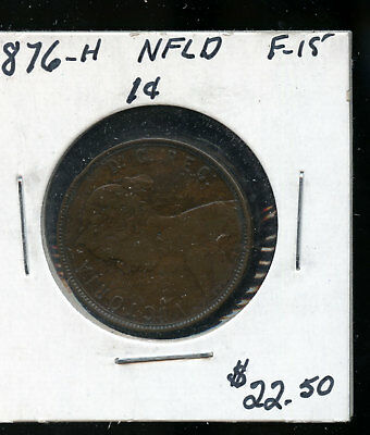 1876 Newfoundland Large Cent F15 TB448