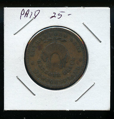 1846 Newfoundland Rutherford Token Harbour Grace VF TB450