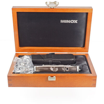 Minox CLX Silber Edition: W.Zapp 1938-1998 # 0444   Holzschatulle, Tasche in OVP