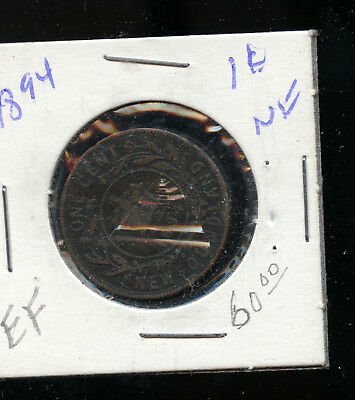 1894 Newfoundland Large Cent F TB472