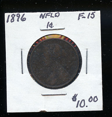 1896 Newfoundland Large Cent F15 TB473