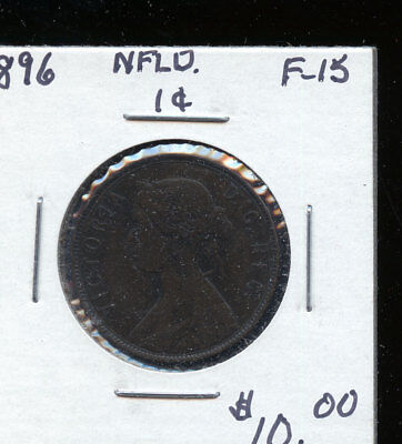 1896 Newfoundland Large Cent F15 TB476