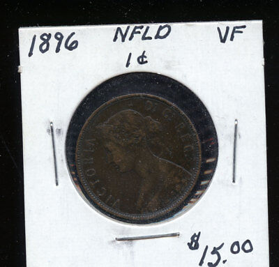 1896 Newfoundland Large Cent VF TB477