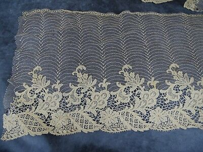 181 ins - Antique French  Lace  Neddle Run on Net