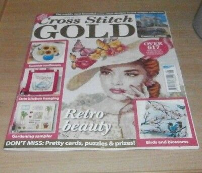 Cross Stitch Gold magazine #148 2018 Country Cottage, Sunflowers, Gardening &