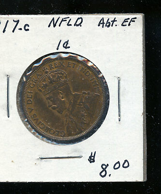 1917 Newfoundland Large Cent VF30 TB492