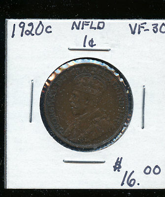 1920 Newfoundland Large Cent VF30 TB495