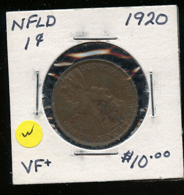 1920 Newfoundland Large Cent VF TB497