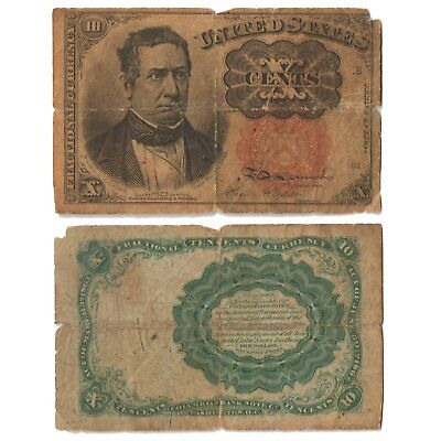 1874-1876 Fractional Currency 10c Fifth Series # 1266 Circulated Banknote F-12