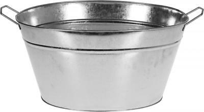 Oval Zinc Tin Cold Drinks Party Cool Champagne Ice Bucket Bowl Plant Planter Box
