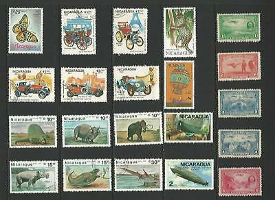 y5069 Nicaragua / A small collection  Early & Modern Umm Lhm & Used