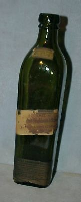 C1907 antique Johnny Walker Red Scotch BOTTLE Partial labels Pre-Prohibition