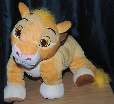 Disney Store Genuine The Lion King Giant 22 Inch Young Simba Soft Plush Toy