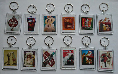Coca Cola Key Chain - Coke Logos and Ads. (Double Sided) (Choice of Lot 3)