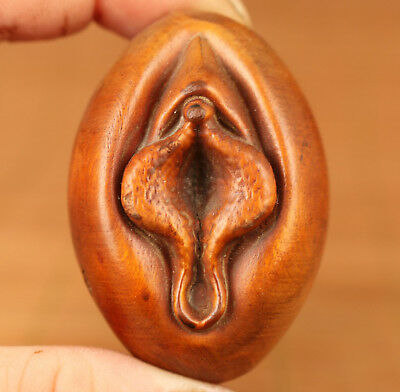 Asian Chinese Old Boxwood Hand Carved Door Of Life Statue Art Noble gift