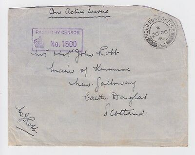 British Forces in Palestine Early WW2 Cover Censored FPO 164 1940