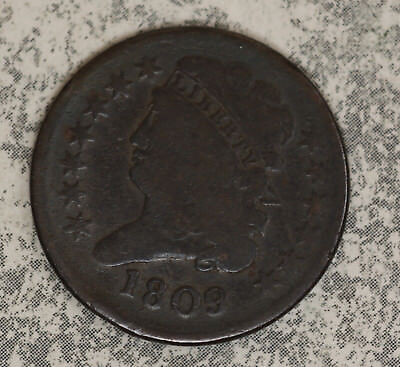 1809 Classic Head Half Cent - Problem-Free Circulated Example
