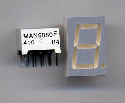 Yellow LED 7 Seg Display MAN 6880