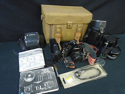 Canon A-1 35mm Camera. (Bundle). TESTED. (430)