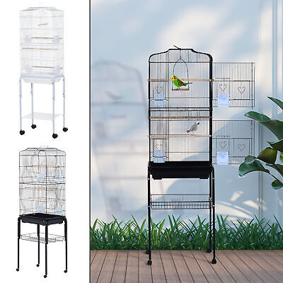 "Bird Cage 63"" Large Finch Parrot Conure Metal Wheels Play Top House Pet Supplies"