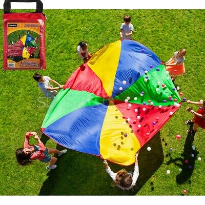 2M/4M Kid Play Rainbow Parachute Outdoor Game Exercise Sport Group Activities