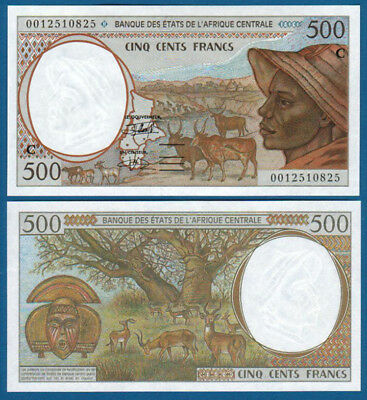 CENTRAL AFRICAN STATES / CONGO 500 Francs (20)00 UNC P.101C g