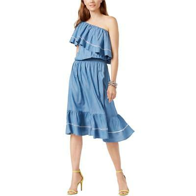 INC Womens Denim One Shoulder Summer Casual Dress BHFO 2951