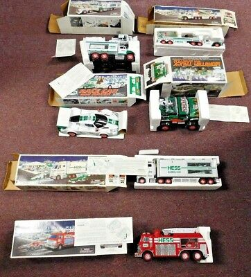 Lot of 6 Hess Trucks New in Box w Inserts & Paperwork, Some boxes improperly sto