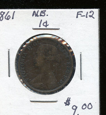 1861 New Brunswick large cent F TB536