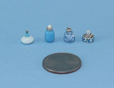 FABULOUS Set of 4 Dollhouse Miniature Perfume Bottles for your Vanity #PS50