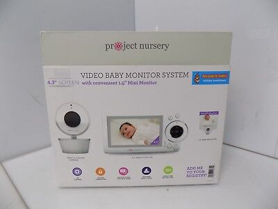 """Project Nursery 4.3"""" Video Baby Monitor System + 1.5"""" Mini Monitor"""