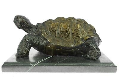 Vintage Turtle Flower Frog Excellent Condition Brass Bronze Heavy Great Patina