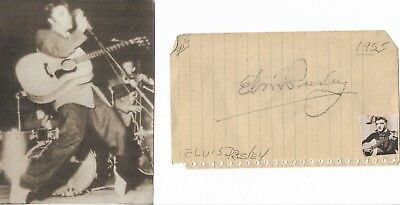 Elvis Presley - Vintage Hand Signed Autograph With Picture 1955 Hayride