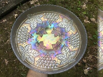 Carnival Gorgeous Northwood White Grape And Cable Master Ice Cream Bowl