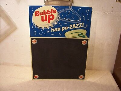 Vintage Bubble Up Metal Chalkboard  Sign 18x24